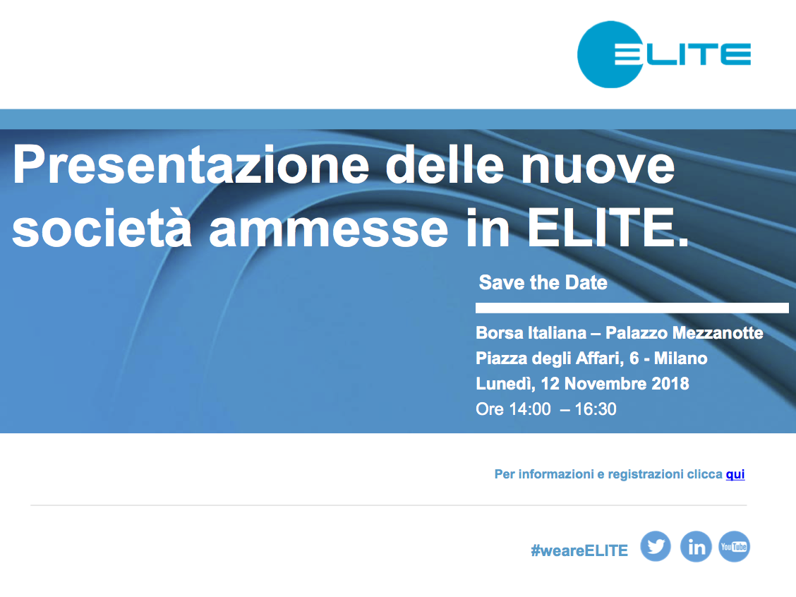 Presentazione delle nuove società ammesse in ELITE